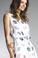 Tempo Paris Polca Dot Silk Dress 60435L White