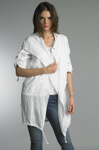 Tempo Paris Linen Coat 9679L White