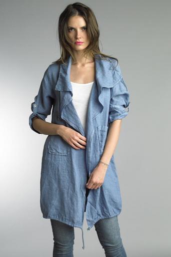 Tempo Paris Linen Coat 9679L Denim