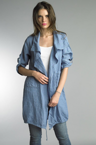 Tempo Paris Linen Coat 9679L Denim