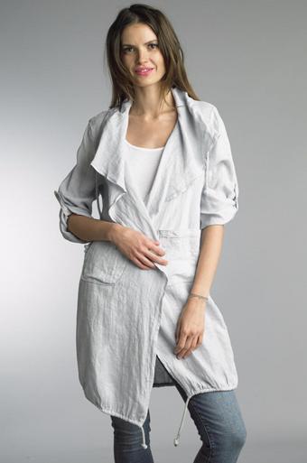 Tempo Paris Linen Coat 9679L Silver