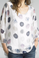 Tempo Paris Polca Dot Silk Top 1185L White