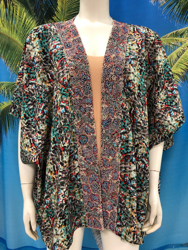 Flirt Exclusive Kimono Open Top 6 with Embellished Trim