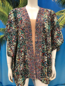 Flirt Exclusive Kimono Open Top 6 with Embellished Trim