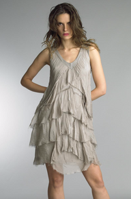Tempo Paris Silk Tulip Dress 60461L Taupe