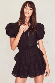 Love Shack Fancy Marissa Dress Black