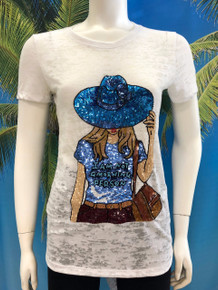 Flirt Exclusive Not A Morning Person Beaded T-shirt White