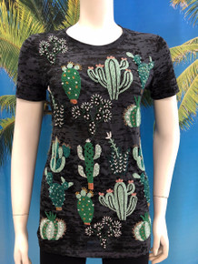 Flirt Exclusive Cactus Beaded T-shirt Black