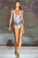 Pin-Up Stars hot Air Balloons One Piece Swimsuit Green