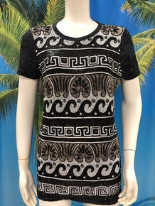 Flirt Exclusive Waves Beaded T-Shirt Black