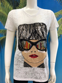 Flirt Exclusive Glasses Reflection T-Shirt White