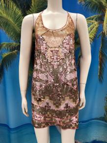 Flirt Exclusive Sequenced Tank Dress Blush