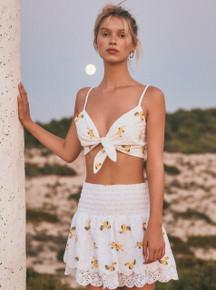 2019 Agua Bendita Sunny Spring Heidi Crop Top
