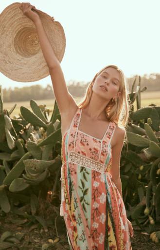 2019 Agua Bendita Pistacchio Story Daisy Dress