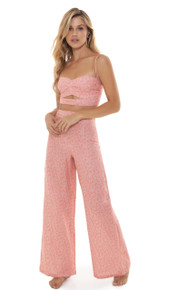 2019 Agua Bendita Cotton Candy Story Mariana Crop Top