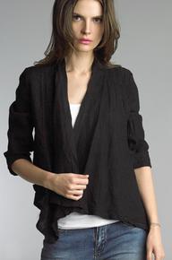 Tempo Paris Linen Jacket 192H Black