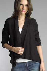 Tempo Paris Linen Jacket 192H Black
