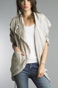 Tempo Paris Linen Coat 9679L Beige