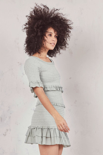 Love Shack Fancy Aveline Dress Seaglass