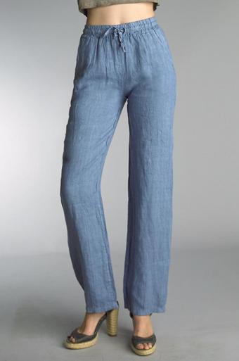 Tempo Paris Linen Pants 38066A Denim