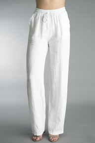 Tempo Paris Linen Pants 38066A White