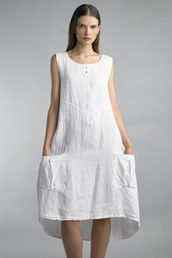 Tempo Paris Linen Long Dress White