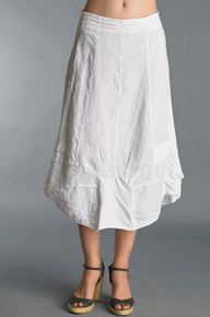 Tempo Paris Bubble Linen Skirt 17003J White