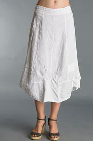 Tempo Paris Bubble Linen Skirt 17003J White