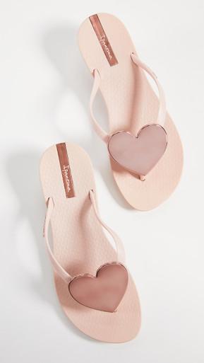 2019 Ipanema Wave Heart Flip Flop Pink Rose