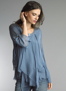 Tempo Paris Silk Top 62029L Denim