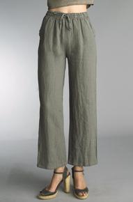 Tempo Paris Linen Pants 38066A Olive