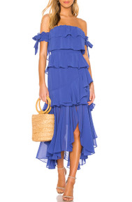 MISA Los Angeles Isidora Dress Cobalt Blue