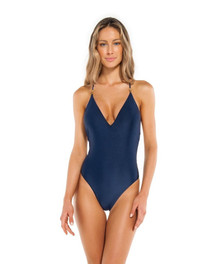 Vix Swimwear Lucy One Piece Swimsuit Navy