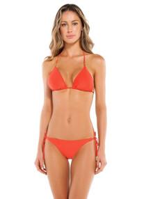 Vix Swimwear Coral Shaye Triangle Bikini Set