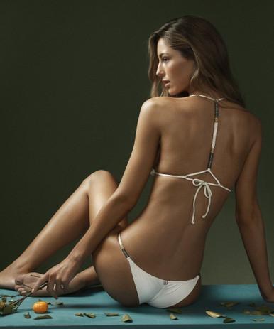 Vix Swimwear Ella Cheeky Triangle Bikini Set Off White
