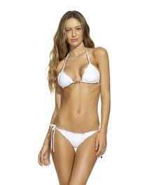 994006f44e7 Vix Swimwear Ripple Boucle Triangle Bikini Set Off White