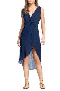 Vix Swimwear Solid Gisele Dress Caftan Navy