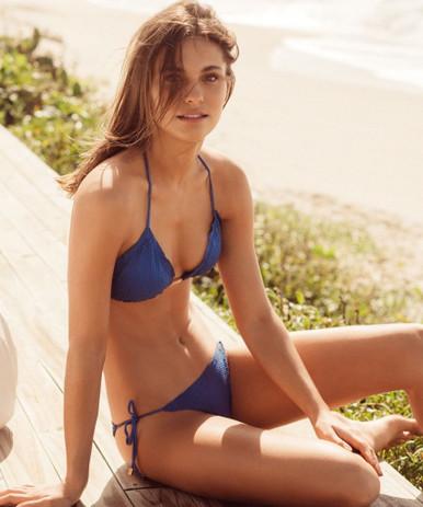 Vix Swimwear Klein Scales Ripple Tri Bikini Set