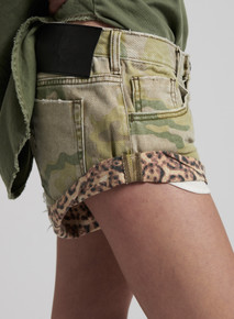 One Teaspoon Denim Shorts Safari Camo Bandits