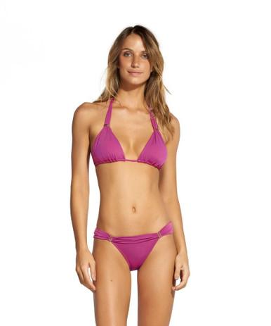 Vix Swimwear Tulip Solid Bia Tube Bikini Set Magenta