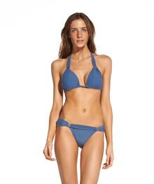 Vix Swimwear Tulip Solid Bia Tube Bikini Set Blue Grey