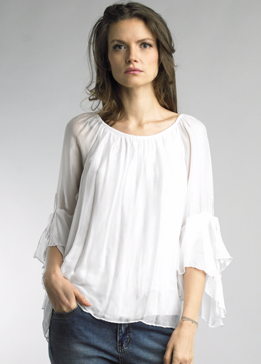 Tempo Paris 7970Z Silk Blend Top White