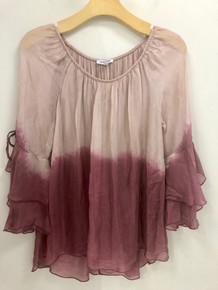 Tempo Paris 7970Z Silk Blend Top Mauve Dip Dye
