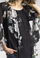 Tempo Paris 9324L Silk Flower Print Top Black