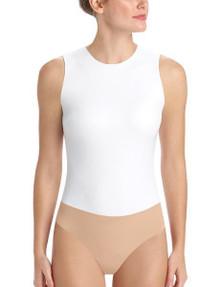 Commando Faux Leather Bodysuit BDS01 White