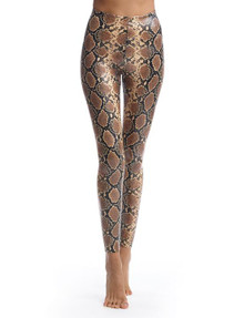 Product - Commando Perfect Control Faux Leather Legging SLG50 Snake Animal Print