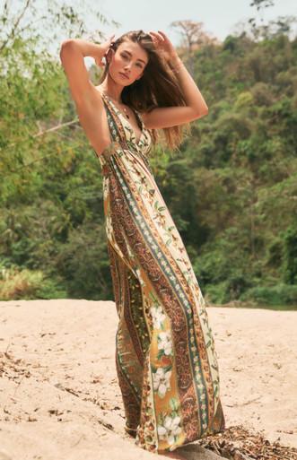 2020 Agua Bendita Evergreen Story Naturalia Maxi Dress