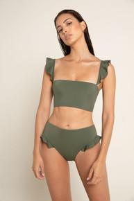 2020 Agua Bendita Palette Susan Penelope Bikini Set Army Green
