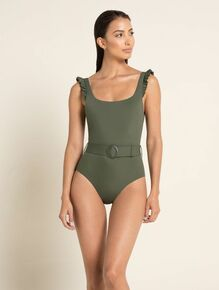 2020 Agua Bendita Palette Nicolette One Piece Swimsuit Army Green