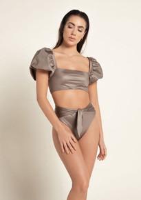 2020 Agua Bendita Palette Calista Isabella Bikini Set Hazelnut